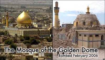 The Mosque of the Golden Dome destroyed