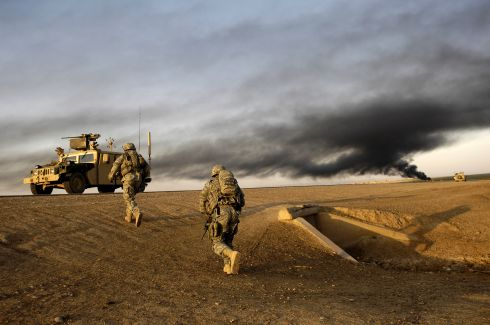 PHOTO: American soldiers in Iraq