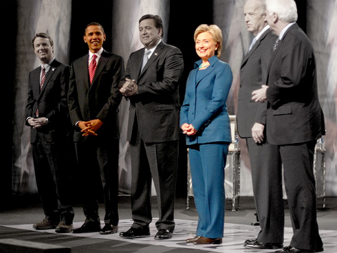 PHOTO: Obama and Clinton, the only two left standing