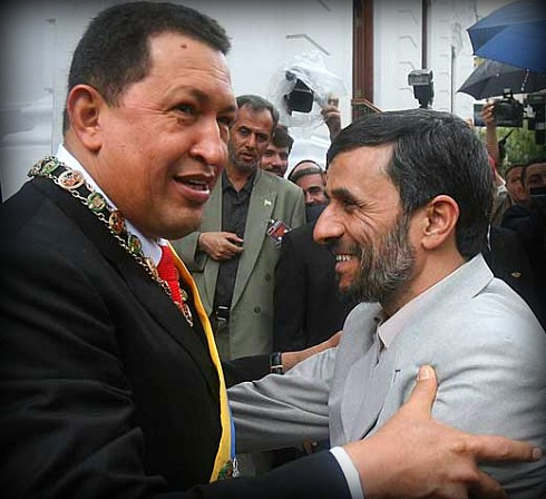PHOTO: Chavez and Ahmadinejad