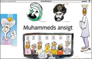 IMAGE: Newspaper compilation of Mohammed cartoons