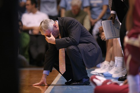 PHOTO: UNC coach Roy Williams