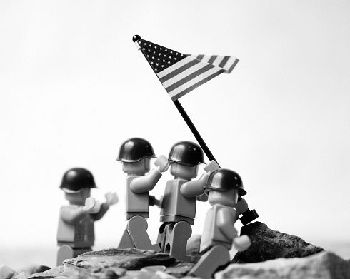 PHOTO: Raising the flag at Iwo Jima photo recreated with Legos