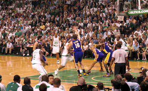PHOTO: NBA Finals 2008 - Celtics hosting the Lakers