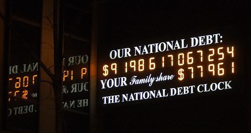 PHOTO: National Debt Clock showing over $9 trillion