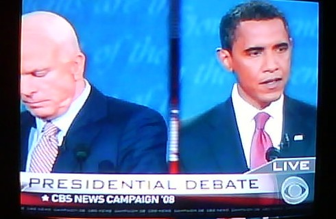 PHOTO: McCain and Obama debate