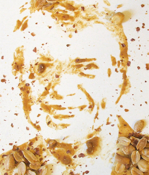 PHOTO: Jimmy Carter portrait done in peanuts