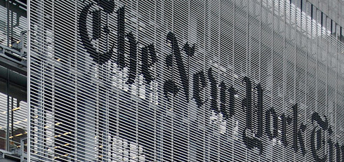 PHOTO: NY Times Building Sign
