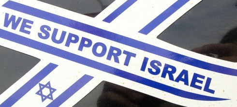 PHOTO: We Support Israel ribbon
