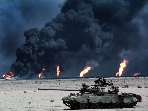 Iraq Oil Fire