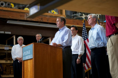 House Republicans (new House Speaker John Boehner at the podium)